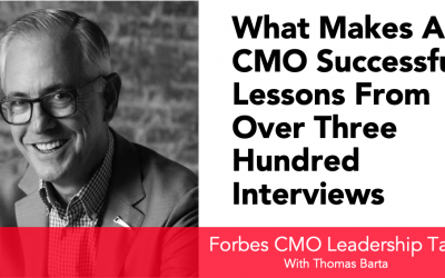 What makes a CMO successful? Lessons from over 300 Interviews