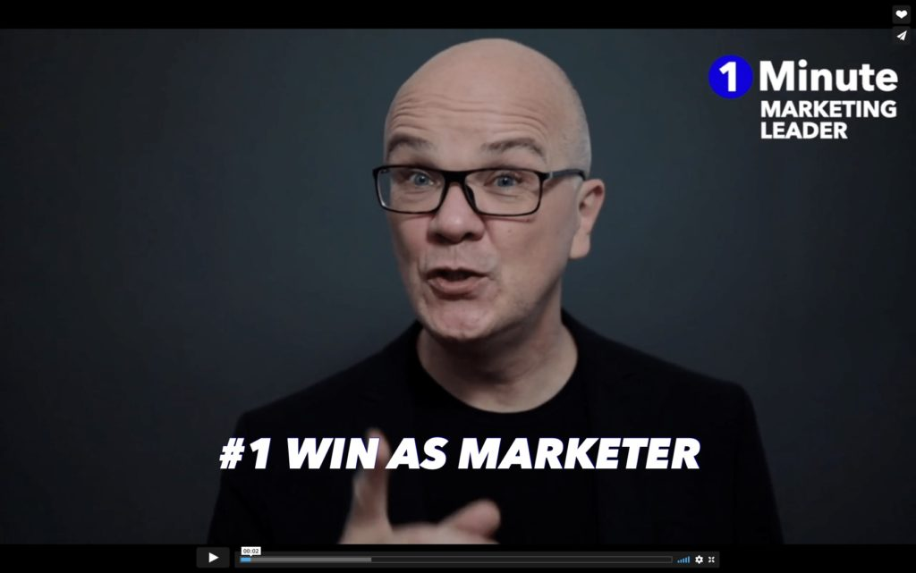 #1 Win as marketer