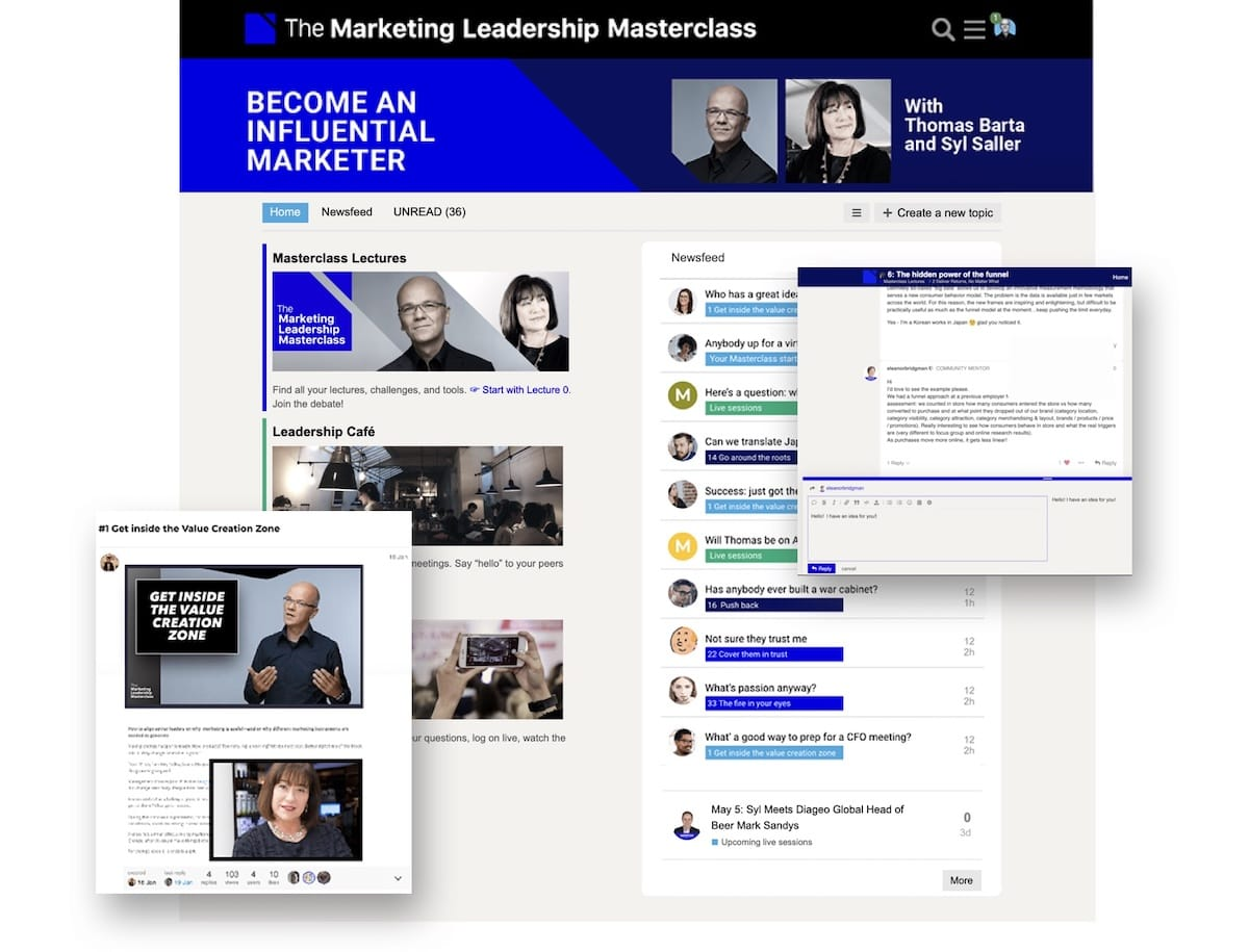Marketing Leadership Masterclass Masterclass platform