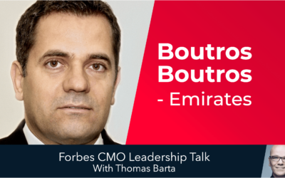 CMO Leadership Talk: 3 ideas from Boutros Boutros, Emirates Airlines